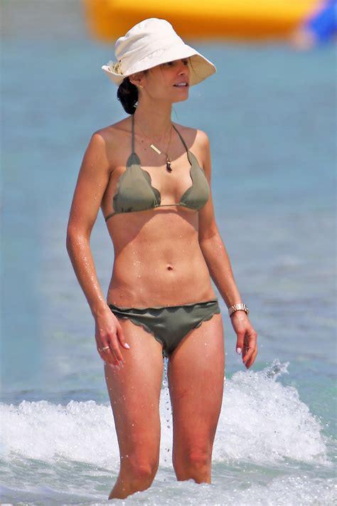 jordana brewster  olive green bikini   gotceleb