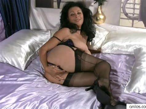 Euro Brunette Joi In Layered Nylons Rubs Mom In Leotard Toys Filled