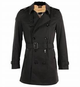 Trench Coat Homme Long : trench coat mi long en coton burberry pour homme ~ Nature-et-papiers.com Idées de Décoration