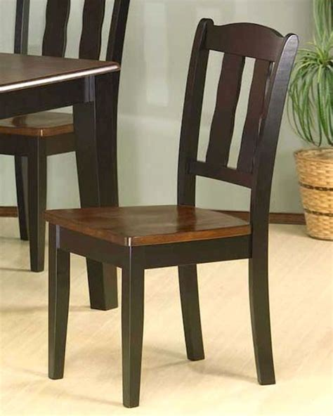 missouri table chair two tone dining chair in black and tobacco set of 2