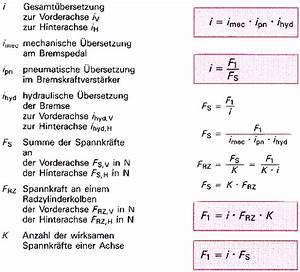 Gesamtübersetzung Berechnen : bremse bet tigung uebersetzungen verst rkung ~ Themetempest.com Abrechnung