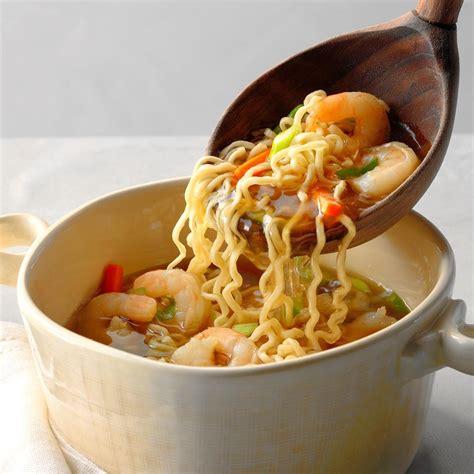 asian ramen shrimp soup recipe taste  home