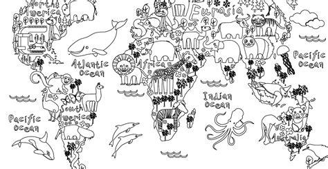 Dessin Carte Du Monde A Imprimer by Coloriage Gratuit Carte Monde Animaux Artherapie Ca