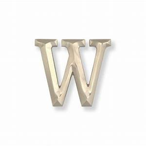 michael healy solid brushed nickel silver letter w With brushed nickel letters