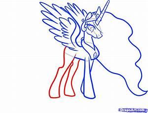 Draw Celestia Celestia My Little Pony Step By Step