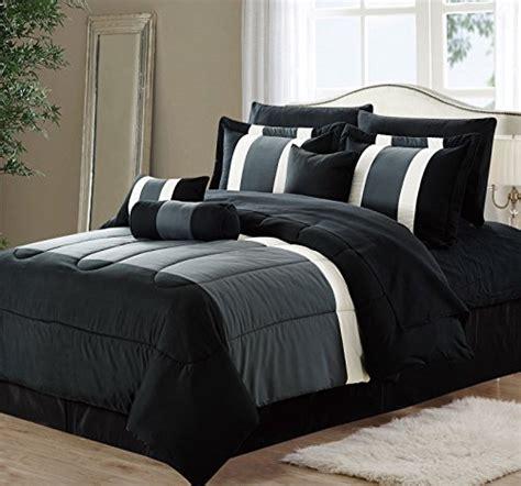 piece oversized black gray comforter set bedding  sheet set queen size homestuffonly