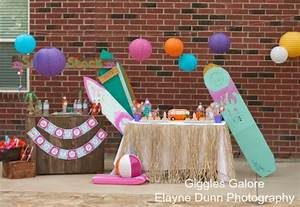 """Hang """"10"""" Retro Surf Shack Birthday Party - Giggles Galore"""