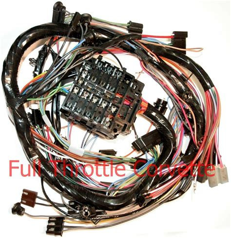 1970 corvette dash wiring harness for cars without air