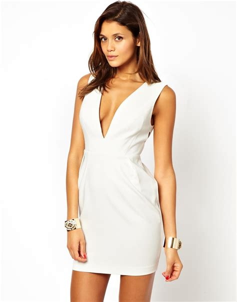 Deep v bodycon dress