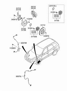 2009 Hyundai Santa Fe Front Wheel Brake System