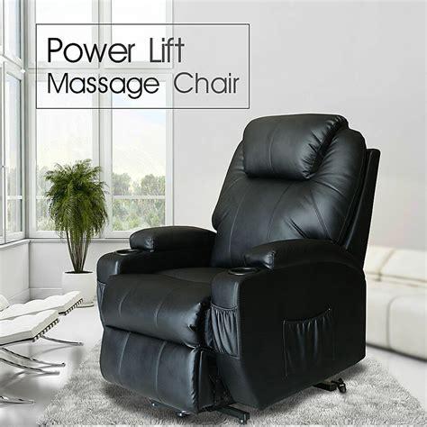 Recliner Chair Power Lift Heated Vibrating Shiatsu Massage