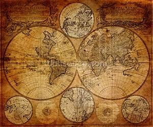 Old Globe Map 1746 Wallpaper Wall Mural