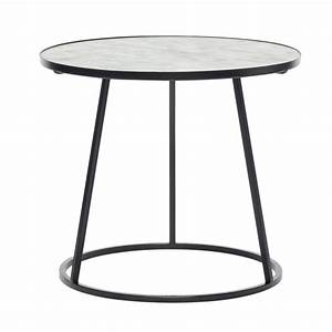 Table Ronde Metal : table basse ronde marbre blanc metal noir hubsch 670208 ~ Melissatoandfro.com Idées de Décoration