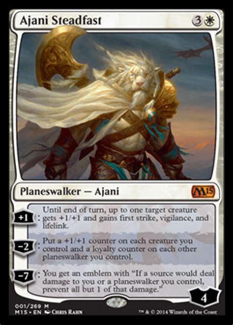 Ajani Mentor Of Heroes Commander Deck by Spoiler Spotlight Ajani Steadfast Makes Three In