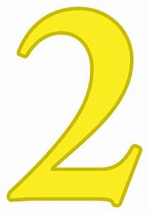 number 2 yellow - /signs_symbol/alphabets_numbers/color ...  2