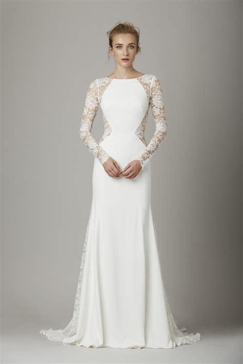 lace panel chiffon top flattering sleeve wedding dress from chic