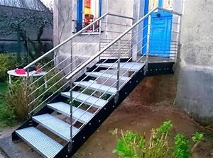 Escalier Métallique Industriel : escaliers industriels art m tal concept quimper ~ Melissatoandfro.com Idées de Décoration
