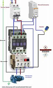 Electrical Diagrams  Motor Phase Pump With Manual