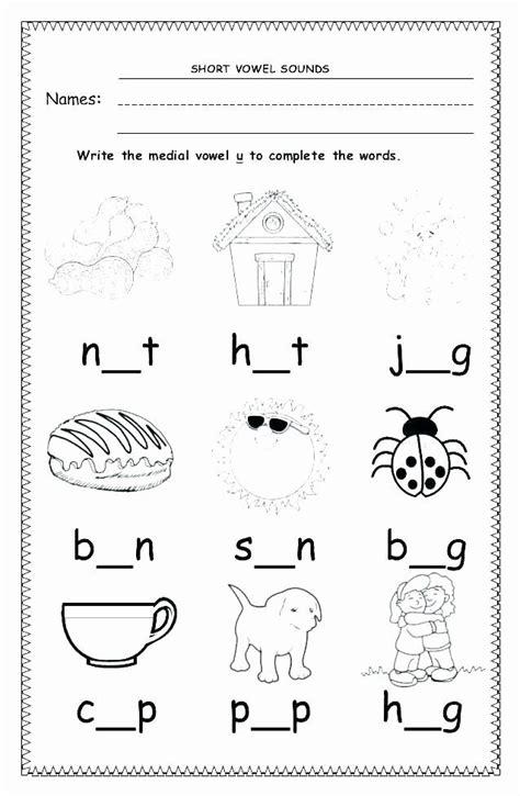short vowel worksheets st grade short vowel worksheets