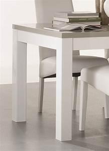 Table Blanche Et Grise : table de salle manger design laqu e blanche et grise jewel matelpro ~ Teatrodelosmanantiales.com Idées de Décoration