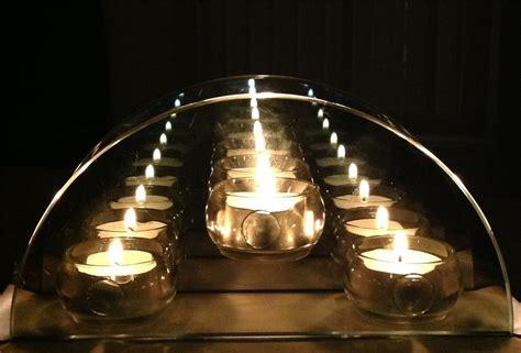 mirrored tea light candle holders infinity glass tealight candle holder reflective tea light