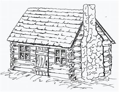 Cabin Coloring Log Pages Drawing Cabins Sheets