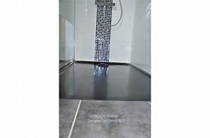Bac De Douche : receveur de douche en pierre mercurion shadow granit noir ~ Edinachiropracticcenter.com Idées de Décoration