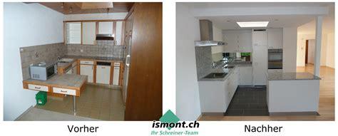 Küchen Vorher Nachher by Ismont Ag Schreiner Team Vor Nachher