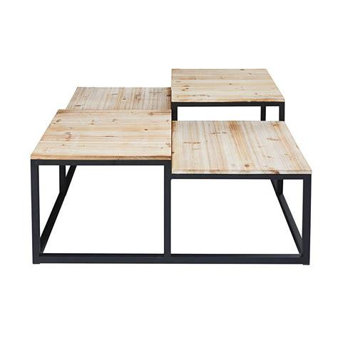 table basse indus 4 plateaux en sapin massif et m 233 tal