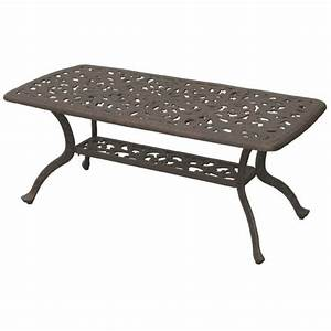 darlee series 80 patio coffee table in antique bronze dl80 b With bronze outdoor coffee table