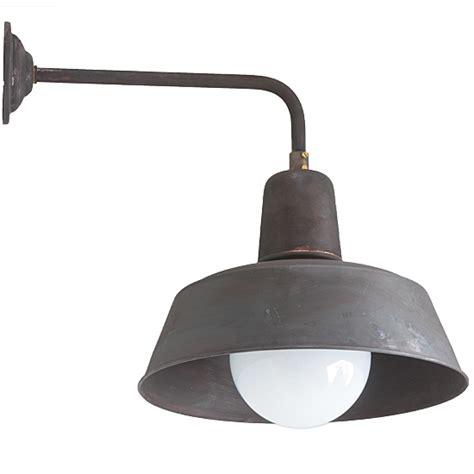 industrial style wall light berlin w130 copper patina