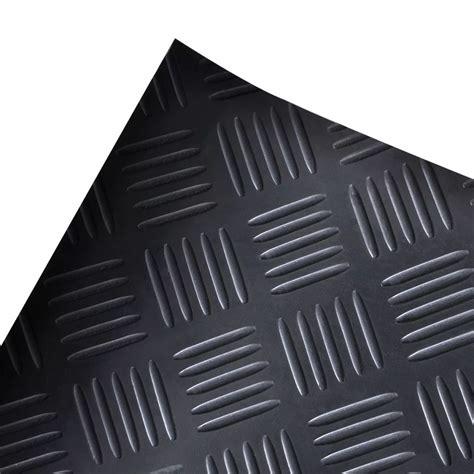 plate rubber mat rubber floor mat anti slip 5 x 1 m checker plate vidaxl