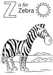 letter    zebra coloring page  printable coloring pages
