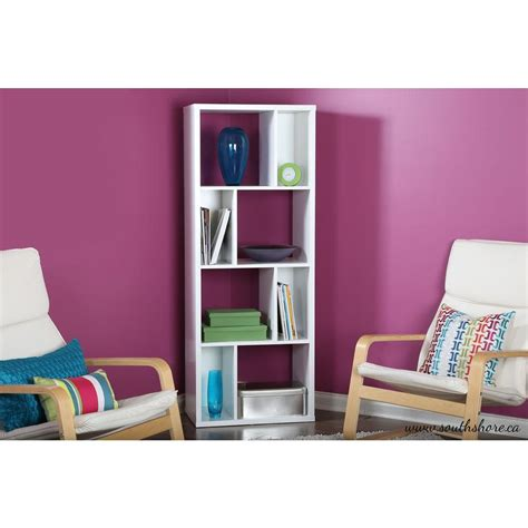 South Shore White Bookcase by South Shore Reveal White Open Bookcase 5150731 The