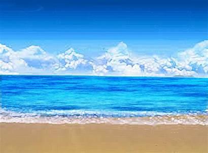 Beach Waves Moving Animated Pantai Ocean Clip