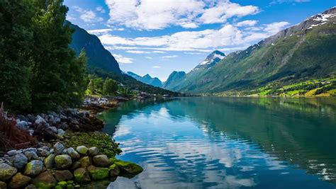beautiful nature norway natural landscape stockvideos
