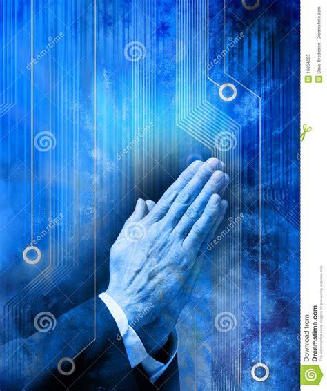 prayer religion technology computer royalty  stock