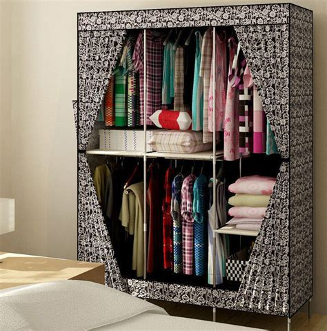 Bedroom Clothes Closet by New Reinforced Large Portable Closet Folding Clothes