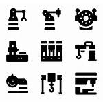 Machinery Factory Icon Icons Robot Packs Smart