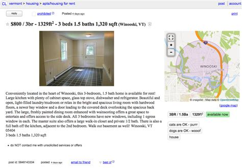 3 Bedroom Apartments Craigslist by The Daily Scam New Craigslist Apartment Scam