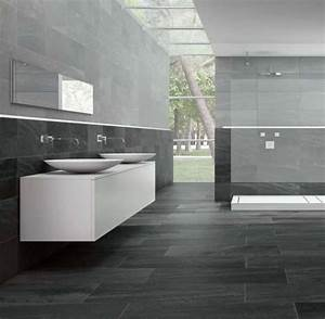 salle de bain gris anthracite et gris clair recherche With salle de bain gris et noir