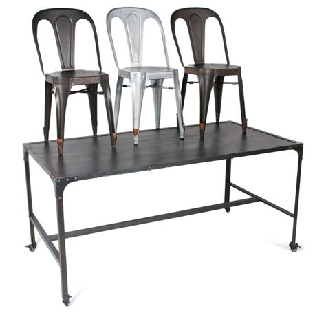 chaises de table chaise industrielle style multipl 39 s par drawer