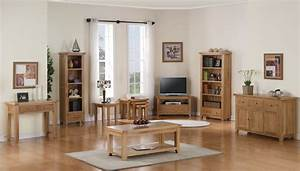 Devon solid oak living room furniture corner tv dvd for Corner units living room furniture