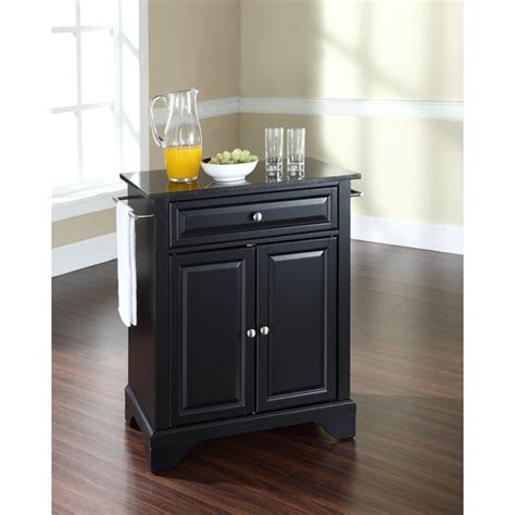 shop lafayette solid black granite top portable kitchen