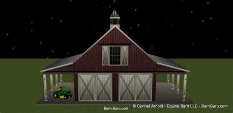 car garage     horse barn
