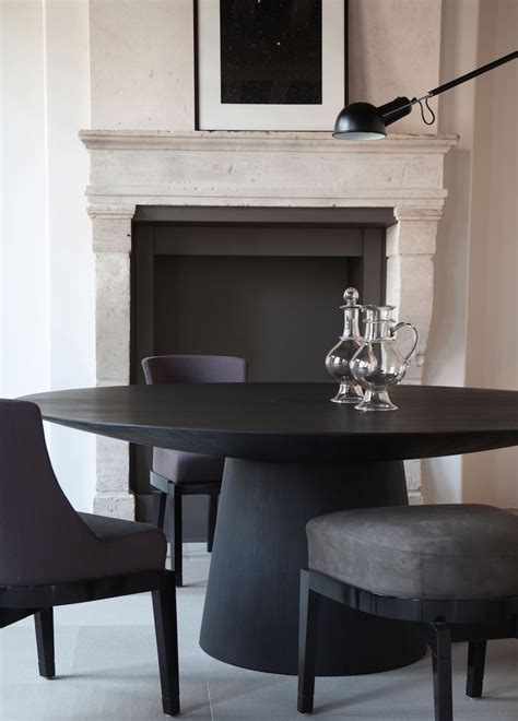 gorgeous black dining tables   modern dining