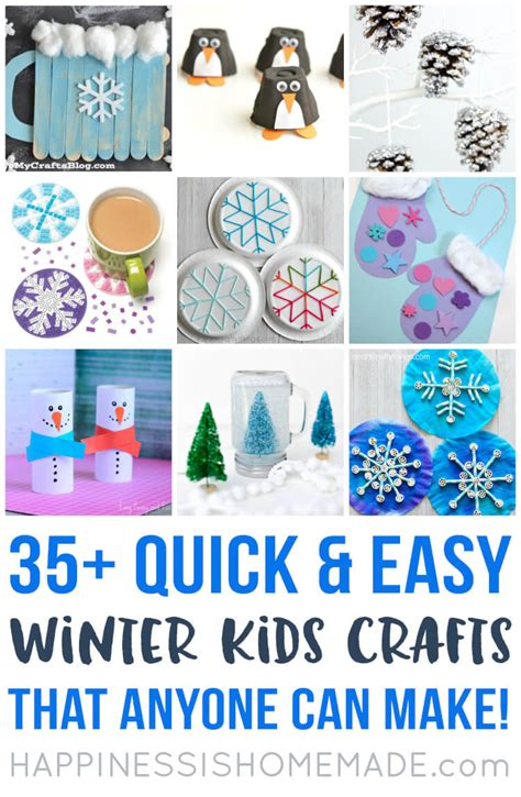Easy Winter Kids Crafts That Anyone Can Make Happiness