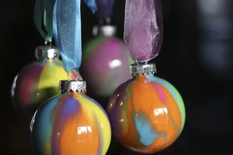 pour painted christmas ornaments happy hooligans