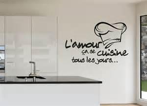 faisant l amour dans la cuisine stickers l amour se cuisine tous les jours au design original superbe toque et citation