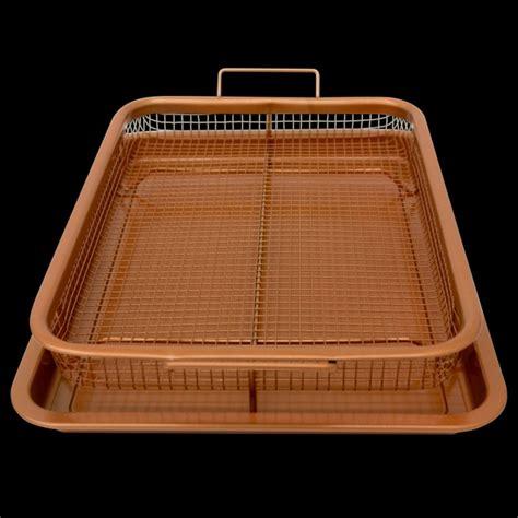 gotham steel crisper tray xl  nonstick copper surface    tv tanga